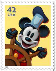 Mickey Mouse USA stamp