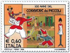 il francobollo per i 100 anni del Corriere dei Piccoli