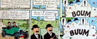 Esempio di traduzione non del tutto adeguata - copyright immagini Hergé/Moulinsart
