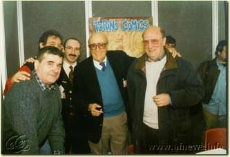 1998: Giorgio Rebuffi, Gianfranco Goria, Vittorio Pavesio, Will Eisner, Luciano Bottaro