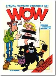 Il famoso numero della rivista WOW dedicato alla censura nei fumetti con la copertina di Giorgio Cavazzano