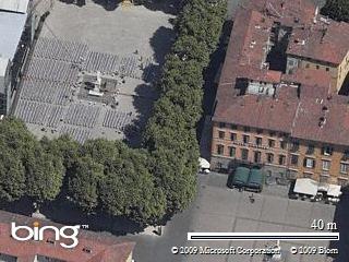 Lucca piazza del Giglio - mappa dinamica