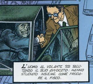 Una vignetta dalla prima tavola di Spada di Gonano e De Luca, da Il Giornalino 41-2009