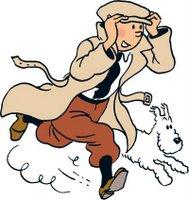 Tintin e Milou - copyright Hergé-Moulinsart