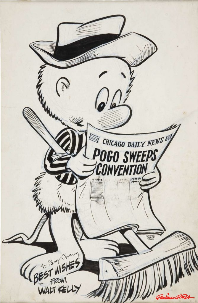 walt-kelly-pogo-sweeps-convention-illustration-original-art-1952-afnews