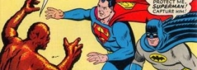 Superman and Batman face The 1,001 Tricks of Clayface and Brainiac