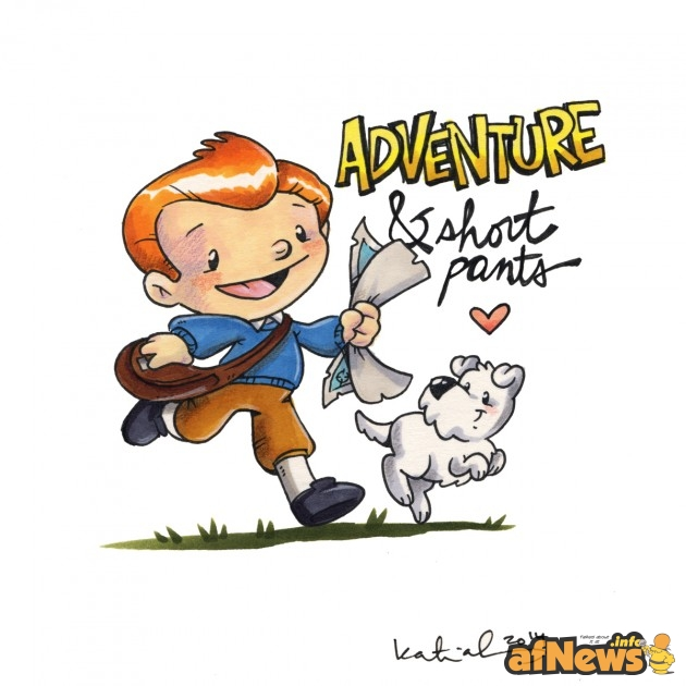 Tintin & Snowy by Katie Cook, writer of My Little Pony: Friendship Is Magic, creator of Gronk