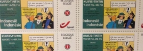 Tintin: francobolli speciali Indonesia