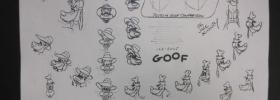 Goofy model sheet