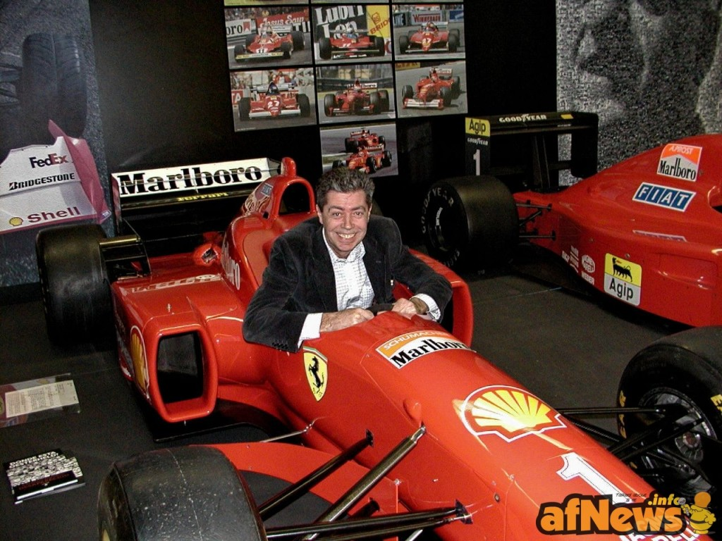 Silver pilota di Ferrari in una foto di Gianfranco Goria