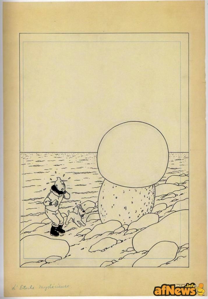 LaStellaMisteriosa originale copertina 1942 Tintin Hergé