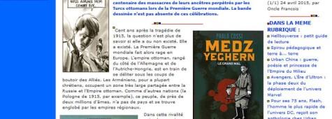 Il genocidio degli Armeni e il fumetto