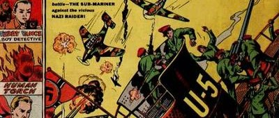 75 Years Ago This Month: It was a terrible battle -- the Sub-Mariner against the vicious Nazi raider...
