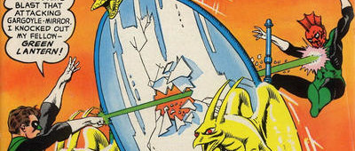 "50 Years Ago This Month: Two Green Lanterns team up to battle ""The Menace of the Atomic Changeling"" ..."