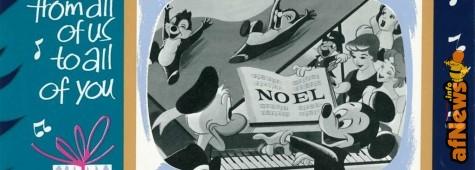 Questa bella cartolina natalizia originale Disney è gratis!
