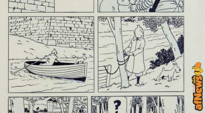 Asta al ribasso per la doppia tavola di Hergé dallo Scettro di Ottokar