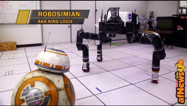 BB-8 incontra i veri droidi della NASA