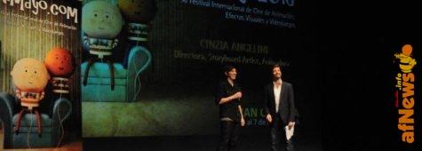 Cinzia Angelini e Luca Raffaelli alla serata di apertura del Festival Animayo