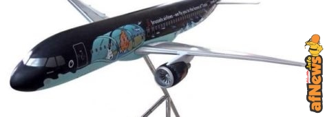Il modellino dell'Airbus A320 Tintin et le Rackham le Rouge
