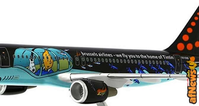 L'aereo belga di Tintin ora è un modellino