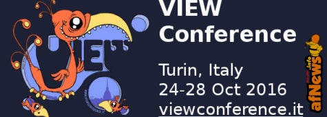 There's something great in Turin: View Conference will come back in October