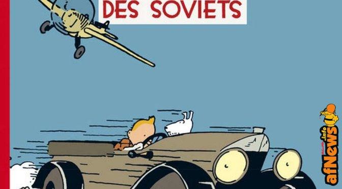 Tintin e i Soviet a colori: la copertina a Francoforte