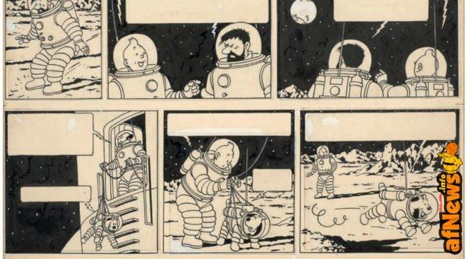Asta Tintin a razzo: una tavola 1.55 milioni di euro! Nuovo record