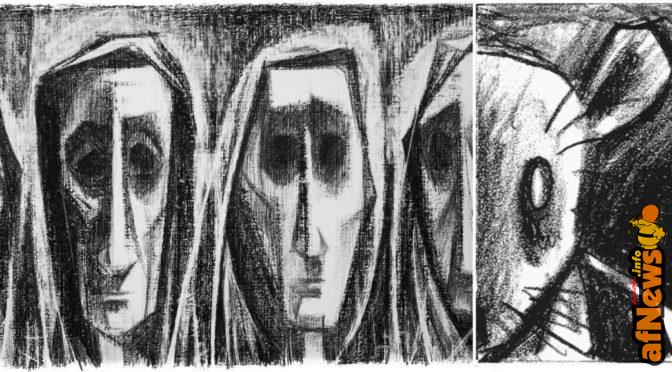 """Nell'odissea disegnata di Si Lewen l'assurda """"Parata"""" degli uomini sedotti dalla guerra"""
